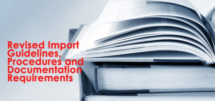 Revised Import Guidelines